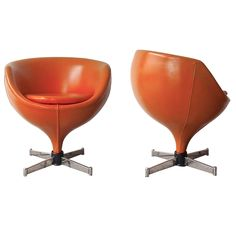 "Pair of ""Luna"" Chairs by Pierre Guariche 