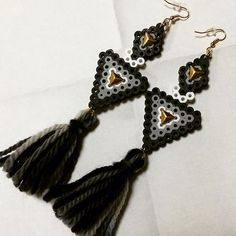 Earrings perler beads by minamiblacklady