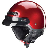 Zox Banos STG Gloss Candy Red Half Helmet
