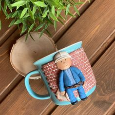 Decorative Crafts, Clay Mugs, Cute Polymer Clay, Polymers, Decor Crafts, Saddle Bags, Biscuit, Best Gifts, Coffee Mugs
