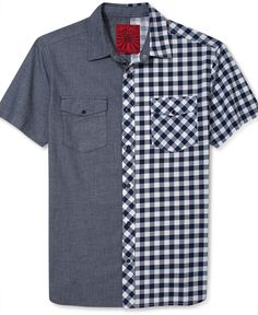 PRPGNDA Shirt, Rosado Short-Sleeve Check-Print - Casual Shirts - Men - Macy's