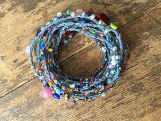 Simply: Versatile crocheted necklace / bracelet / by FleasKnees