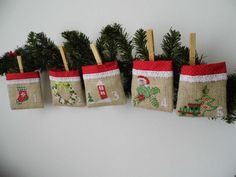 Advent Calendar Rustic Christmas by MelindasSewingCorner on Etsy