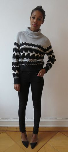 Black Grey and White Icelandic Sweater by singlegreenfemale, New! Icelandic Sweaters, Grey And White, Men Sweater, Turtle Neck, Trending Outfits, Female, Green, Ideas, Fashion