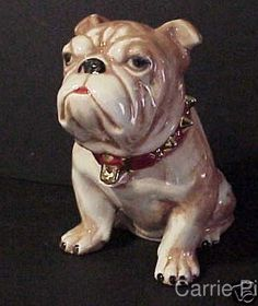 Bull Dog Cookie Jar 9 1/2 inches Tall by CarrieHomeMadeGifts, $17.98