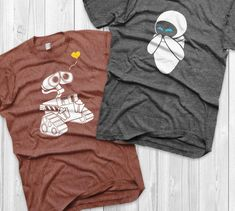 Couple Outfit vacation Wall-e and Eve Shirts Disney Couples Shirts Wall-e Custom Matching Shirts Couple. Wall-e and Eve Shirts Disney Couples Shirts Wall-e Custom Matching Shirts Couple T-shirts vacation shirts Couple Disney, T-shirt Couple, Disney Couple Shirts, Matching Disney Shirts, Matching Couple Shirts, Disney Couples, Couple Tshirts, Matching Couples, Walt Disney
