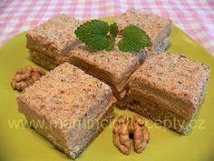Ořechovo-karamelové kostky