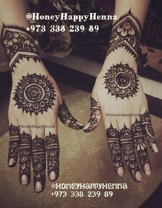 In the category of Traditional Mehndi, (both indian and arabic) this is in my top 3 favorite styles.Henna Art by HoneyHappyHenna