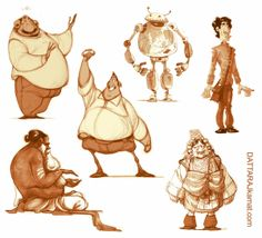 DATTARAJ KAMAT Animation art: Some more characters...