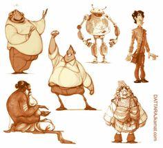 DATTARAJ KAMAT Animation art: Some more characters...