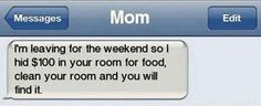 Texting is a great way to communicate with others. But some we talk others with a great laughing texting. Same like these humor texts are very funny.Read This 25 humor texts Parenting Win, Parenting Done Right, Parenting Humor, Parenting Hacks, Parenting Teenagers, Funny Mom Texts, Funny Texts From Parents, Humor Texts, Dog Texts