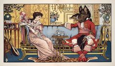 """Beauty and the Beast Have Tea,"" by Walter Crane (1874)"