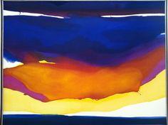 """desimonewayland: """" Gretchen Albrecht, Golden Cloud, 1973 Auckland Art Gallery Toi o Tāmaki """" Abstract Landscape, Abstract Art, Auckland Art Gallery, New Zealand Art, Nz Art, European Paintings, Large Art, Art Google, Watercolor Art"""