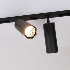 MINI TUBE X TRACK - Exterus Closet Lighting, Hallway Lighting, Interior Lighting, Lighting Design, Spot Lumiere, Modern Track Lighting, Salon Interior Design, Interior Concept, Environmental Design