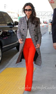 Traveling In Style! Victoria Beckham Turns Heads And Keeps It Classy As Usual At LAX