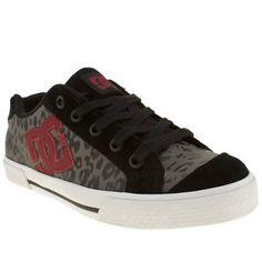 Women's Black & Grey Dc Shoes Chelsea Se Leopard at schuh