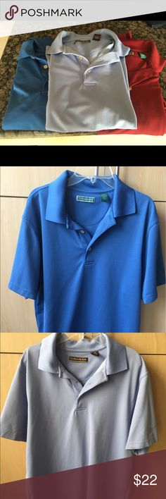 Bundle of three cubavera shirts Very useful and hardly worn! It's a complete steal! Cubavera Shirts Polos