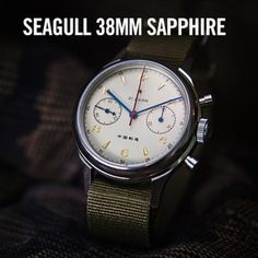 Seagull 1963 Air Force Watch 38mm Sapphire Crystal