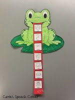 Hmmm.  Love the idea.  Put any skill that needs practice on the tongue....numbers, words with short o sound, frog rhyming words