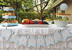 """""""Cravings"""" baby shower food! Everything mommy to be craved during her pregnancy..."""