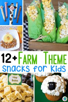 Farm snacks for kids to eat during your preschool farm theme activities! Fun and EASY farm snacks for preschool. Sheep, horses, cows, pigs, and more fun farm snacks! Preschool Cooking Activities, Farm Animals Preschool, Animal Activities For Kids, Farm Activities, Preschool Crafts, Kids Crafts, Farm Theme Crafts, Farm Lessons, Animal Snacks