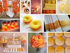 Wedding Inspiration: Oranges and Yellows
