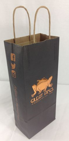 Wine Bag printed with ink and foil make a unique bag. We can print and foil on all of our 16 sizes of bags. Contact ppova.com or call 804-781-1957 for a quote.
