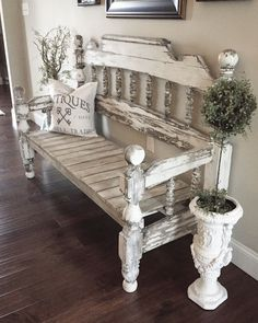 Weathered chippy bench