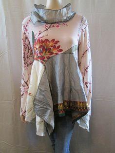 Lagenlook Tunic Elegant Boho Chic Silk Road by bluemermaiddesigns