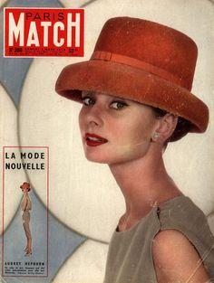 Audrey Hepburn on the cover of Paris Match, 1956.