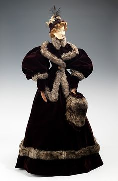"""""""1894 Doll"""" with costume by Fourrures Max, made in 1949 as part of the Friendship Train."""