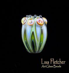 Lampwork Art Glass Focal Bead by Lisa Fletcher♥♥