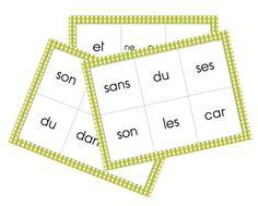 Loto des mots outils Taoki - La classe de Gayanne