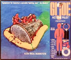 With an orange wetsuit borrowed from the Sailor's Sea Sled set, Air Sea Rescue added a rescue life ring and black scuba tanks to the line. The orange wetsuit is plagued with the same. Childhood Toys, Childhood Memories, Childrens Board Games, 70s Toys, Happy 50th Birthday, Nasa Astronauts, Classic Toys, Gi Joe, Deep Sea