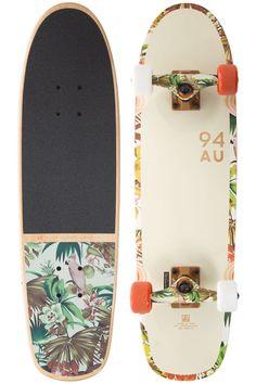 "Globe Bruiser 29"" Cruiser Skateboard Complete - Off White / Jungle #Globe"