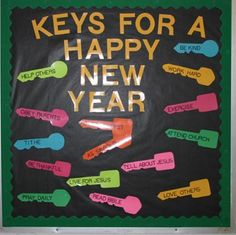 new class bulletin board | Keys for a Happy New Year by Tammy Argyrakis