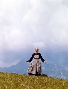 """Production Still, Dame Julie Andrews: 1965, """"The Sound of Music."""""""