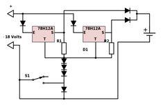 circuito de carregador de bateria 12 volts 100 ah