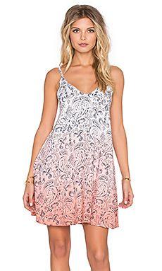 Tiare Hawaii Blondie Dress in Paisley Grey & Coral