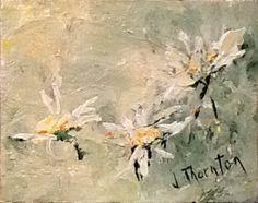 daisies, original painting.  via Etsy.