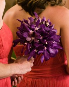 Purple Bouquet | Martha Stewart Weddings
