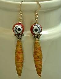 Resultado de imagem para african paper bead earrings