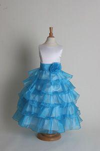 Flower Girl dress - Turquoise SALE Sizes 3, 4, 5, 6, 7, 8