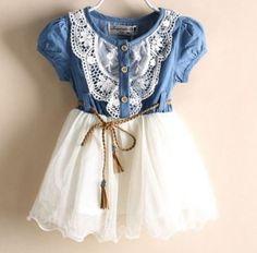 Cute White Denim Dress for Girls Toddler Western Denim Dress Prop   Rudelyn's Sari Sari Store