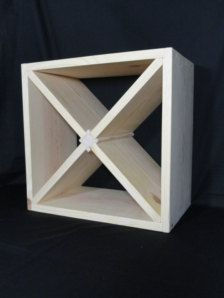 24 Bottle Wine Rack Cube Liquor Storage Solid Wood Modular Stackable 20 X 20 X 9 Handcrafted & Wine Rack Cube Storage | Interiors | Pinterest | Cube storage Wine ...