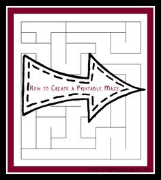 How to Create a Maze Printable - maybe have my students make these with Excel Art?