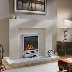 Sleek and modern fire surround.  http://www.worldstores.co.uk/p/Ekofires_4010_Gas_Fire_Mono_Fret.htm
