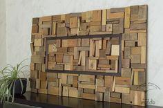 #Imarteko. Obra de #DecoracionDePared encargada por Francesca. Está realizada con piezas de #MaderaReciclada.   #WoodWallArt commissioned by Francesca. It is made with #RecycledWoodPieces. #LargeSculpture.