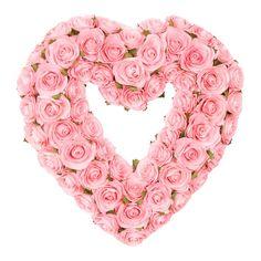 Pink Rosebud Heart Wreath