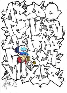 Not only are there different types of graffiti; there are also plenty of different lettering styles used by graffiti writers. Many of them were designed . Graffiti Alphabet Styles, Graffiti Lettering Alphabet, Graffiti Writing, Graffiti Characters, Graffiti Wall Art, Graffiti Styles, Street Art Graffiti, Graffiti Artists, Typography